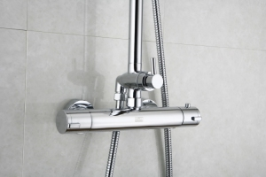 Zestaw termostatyczny kabinowo-prysznicowy natynkowy <br/> TER-ZKPN.400C